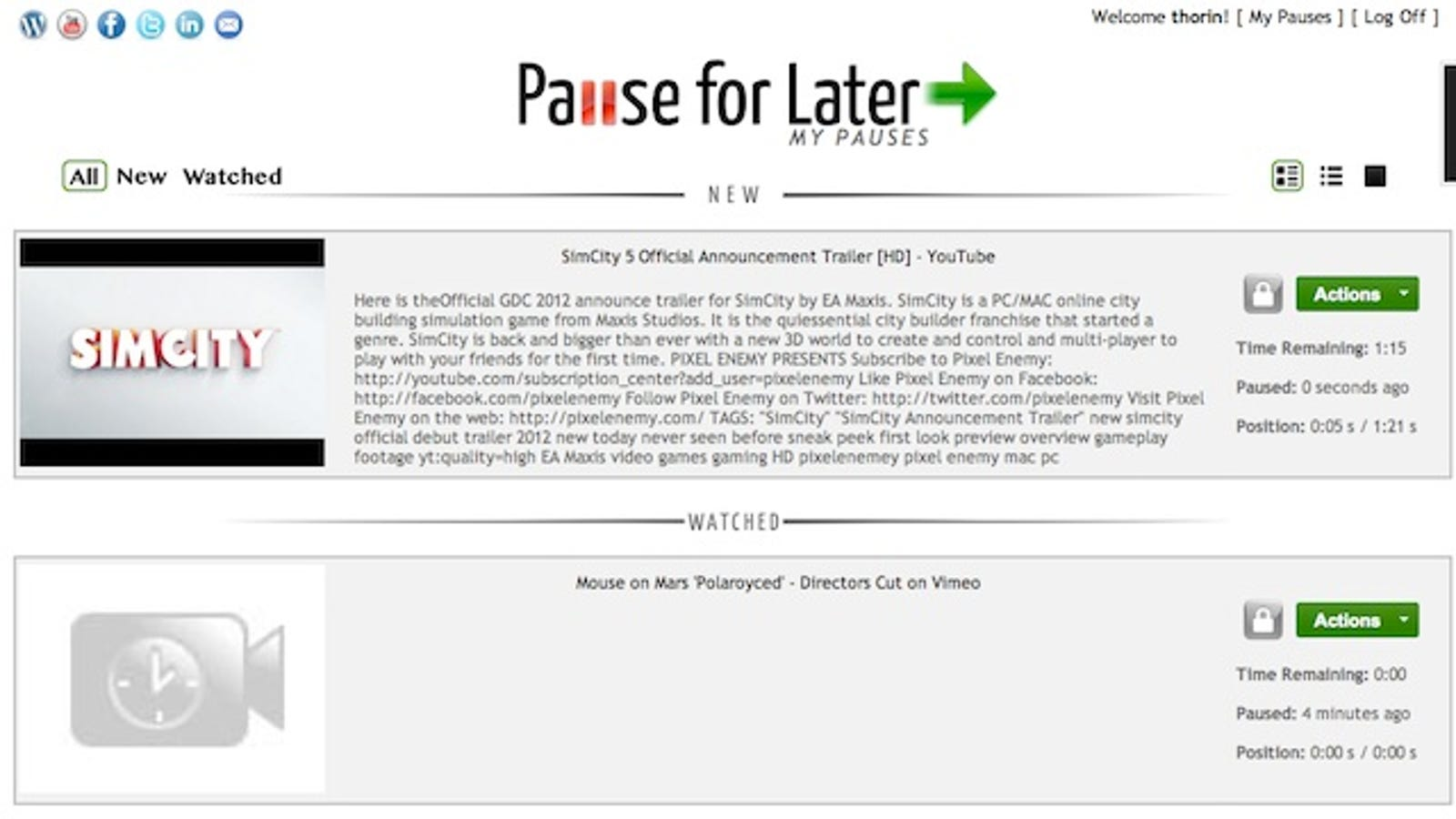 Pause for Later Saves Your Location in Web Videos So You Can