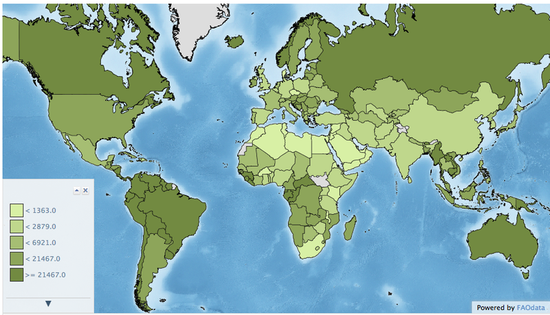 Illustration for article titled One Map Showing Where the Water Shortages Will Hit