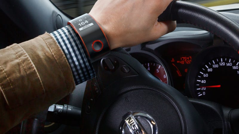 Illustration for article titled Nissan's Smartwatch Uses Biometric Data To Make You A Better Racer