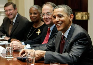 President Obama and Erskine Bowles (Getty Images)
