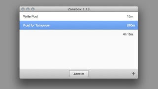 Illustration for article titled ZoneBox Is a Simple Mac App that Allots and Tracks Time for Specific Projects