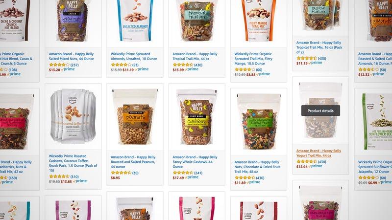 Snacks de Happy Belly | AmazonGráfico: Shep McAllister