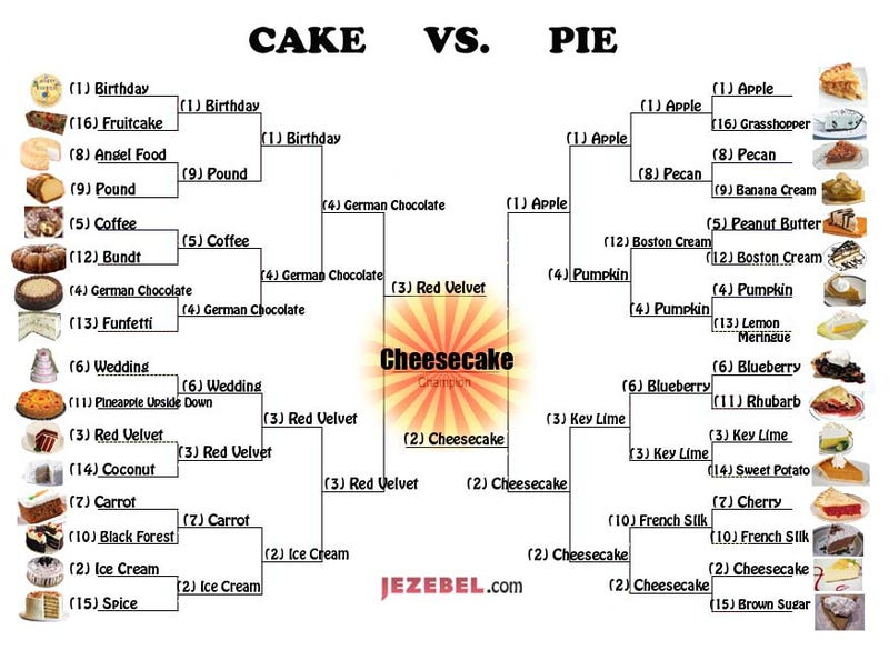 Illustration for article titled Pie Vs. Cake: Pie Is Champion