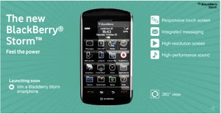 Illustration for article titled Blackberry Storm Goes Live On Vodafone With 3D Tour, Official Spec Page