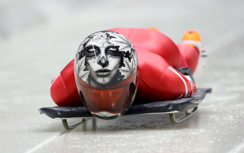 Illustration for article titled Skeleton Helmets Are The Coolest Thing At The Olympics