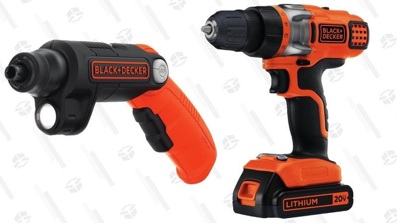 Taladro Black & Decker 20V | $40 | AmazonDestornillador Black & Decker 4V | $12 | Amazon