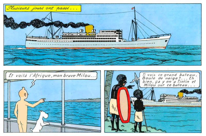 Illustration for article titled This Artist Is Redrawing a Tintin Book With Tintin Buck Naked