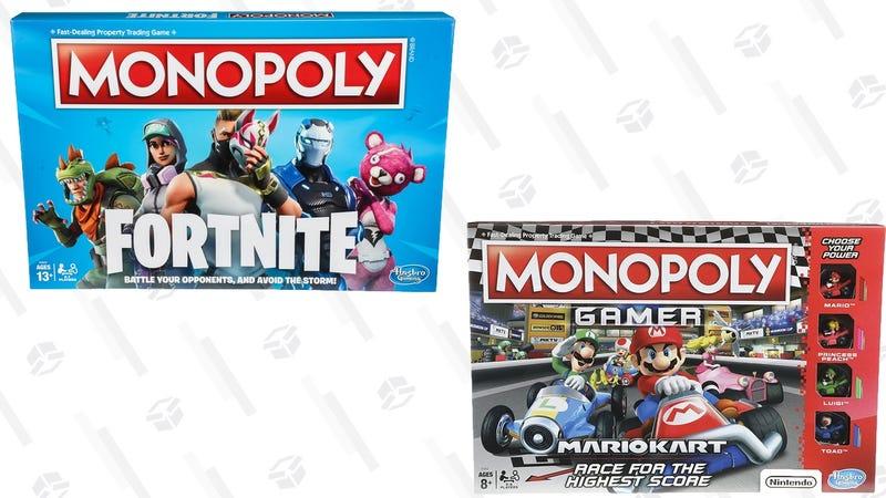 Fortnite Monopoly   $16   WalmartMario Kart Monopoly   $14   Amazon
