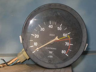 Illustration for article titled Half Price Junkyard Sale Yields $3.01 Fiat Tachometer For 20R Sprite Hell Project