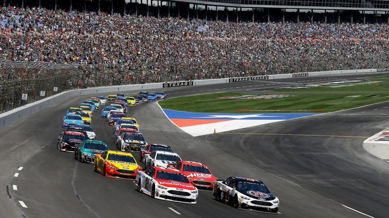 The Texas Motor Speedway race in April. Photo credit: AP Photo/Tony Gutierrez