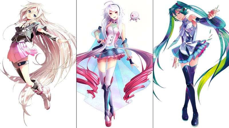 Anime Character Design Tropes : Vocaloid singers have the coolest character designs