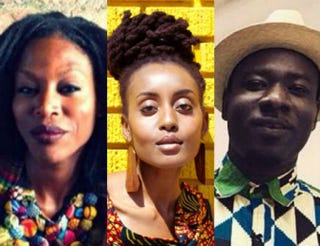 Taiye Selasi; Esosa E; Blitz the Ambassadorfacebook;Jasmine Mercedes; Facebook