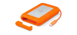 Illustration for article titled LaCie's New Rugged Thunderbolt Drive Has an Integrated Cord