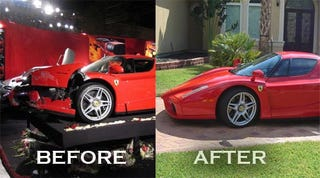 Illustration for article titled Exclusive: Texas Man Rebuilds $1.5 Million Ferrari Enzo Destroyed By Eddie Griffin