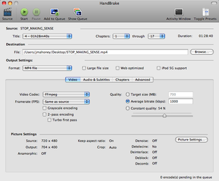 Illustration for article titled HandBrake DVD Ripper Now Converts Any Video File