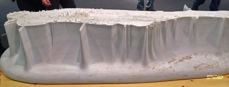Illustration for article titled This 9-foot-long Manhattan model carved in marble is so damn awesome