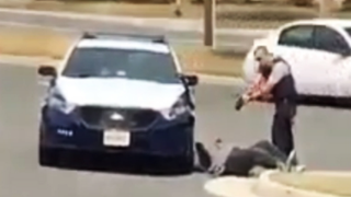 Video footage shows a Fairfax County, Va., officer standing over a man he used a Taser on although the man appeared to be following the officer's commands.  Facebook