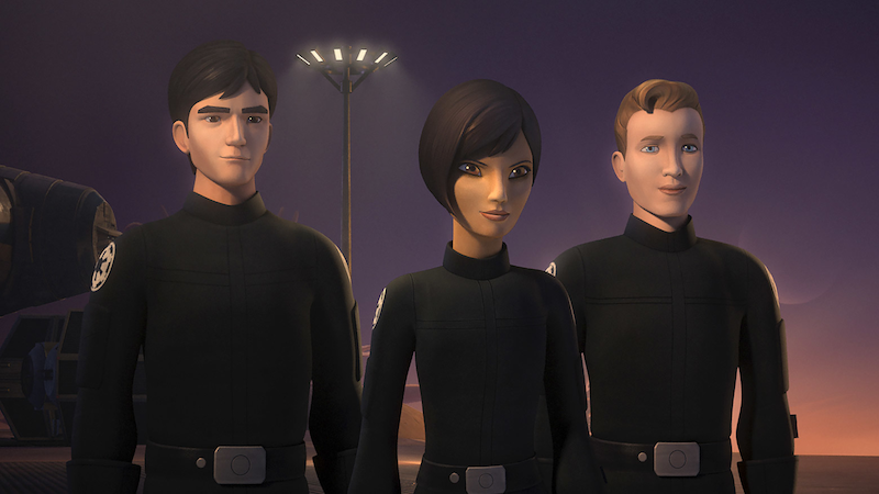 Wedge, Sabine, and Hobbie in Star Wars Rebels (Image: Disney)