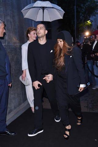 Janet Jackson (right) and her husband, Wissam Al Mana, attend a Giorgio Armani dinner event in Milan April 29, 2015.Tullio M. Puglia/Getty Images for Giorgio Armani