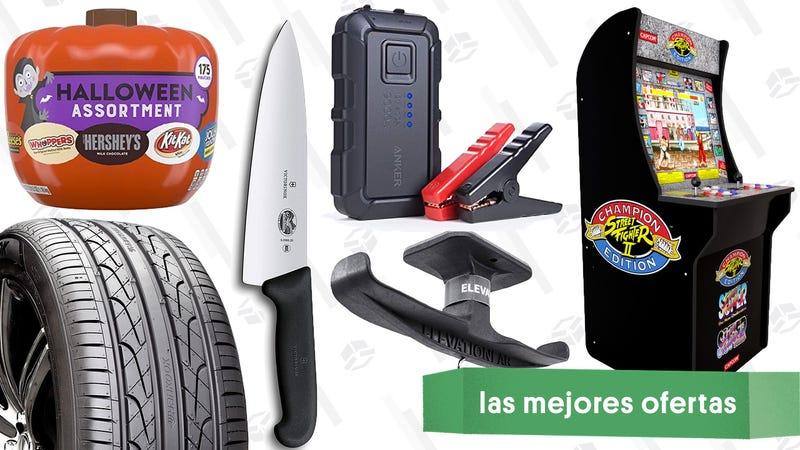 Illustration for article titled Las mejores ofertas de este martes: Máquinas recreativas, dulces para Halloween, un soporte para los auriculares y más