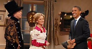 Barack Obama on SNL with Amy Poehler and Darrell Hammond