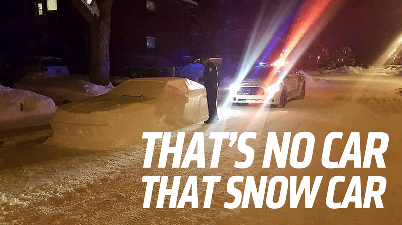 Snow Toyota Supra Fools Canadian Police
