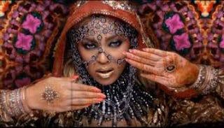 "Beyoncé in the ""Hymn for the Weekend"" videoYouTube screenshot"