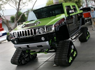 Tracked Hummer At SEMA Will Crush You, Take Your Gas