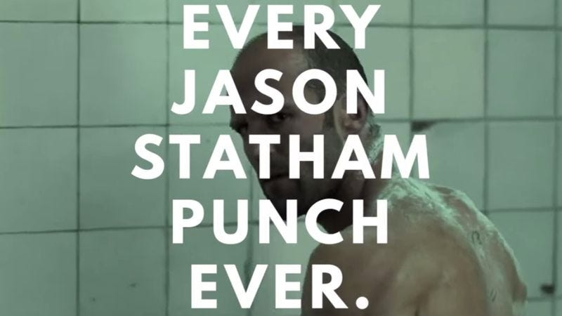 Illustration for article titled Every punch thrown by Jason Statham in a movie ever