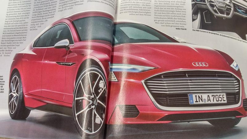 Illustration for article titled Is This What Audi's Future Electric Sedan Is Going To Look Like? (Please Say Yes)