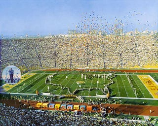 Grambling University's marching band performed during the halftime show at Super Bowl I, held Jan. 15, 1967, in Los Angeles.Wikimedia Commons