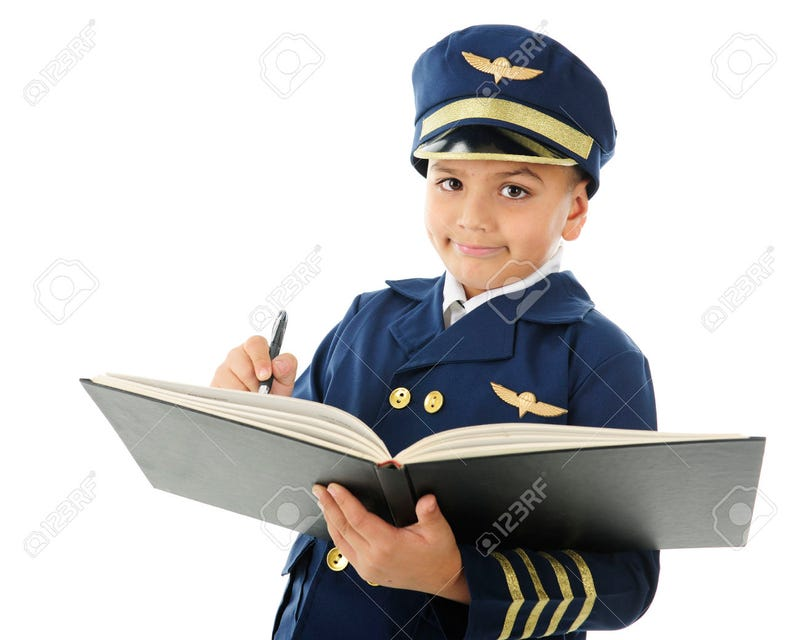 You would trust this child to fly a plane, wouldn't you?