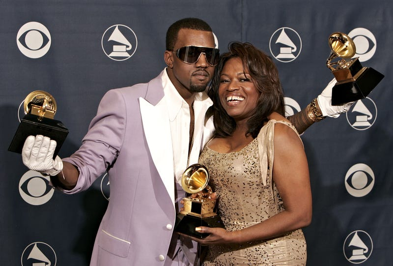 Kanye West and his mother, Donda West