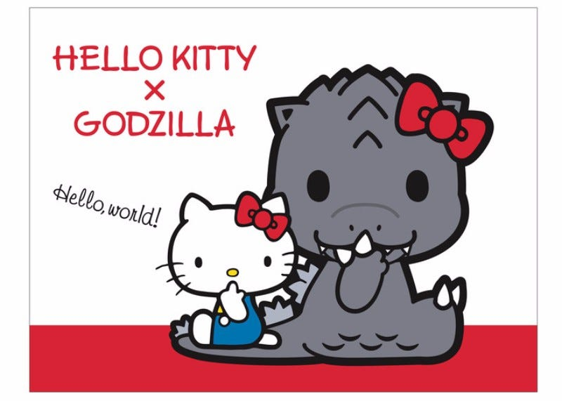 Illustration for article titled Godzilla Gets The Hello Kitty Treatment