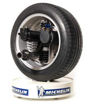 michelin develops revolutionary active wheel for electric cars. Black Bedroom Furniture Sets. Home Design Ideas