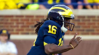 Illustration for article titled Denard Robinson Had More Offense Than Michigan's Offense Today