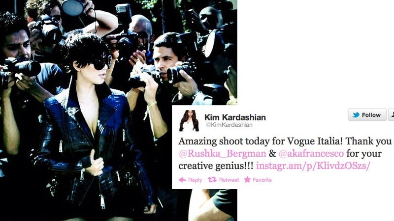 Illustration for article titled Kim Kardashian Will Shoot For Vogue, Any Vogue