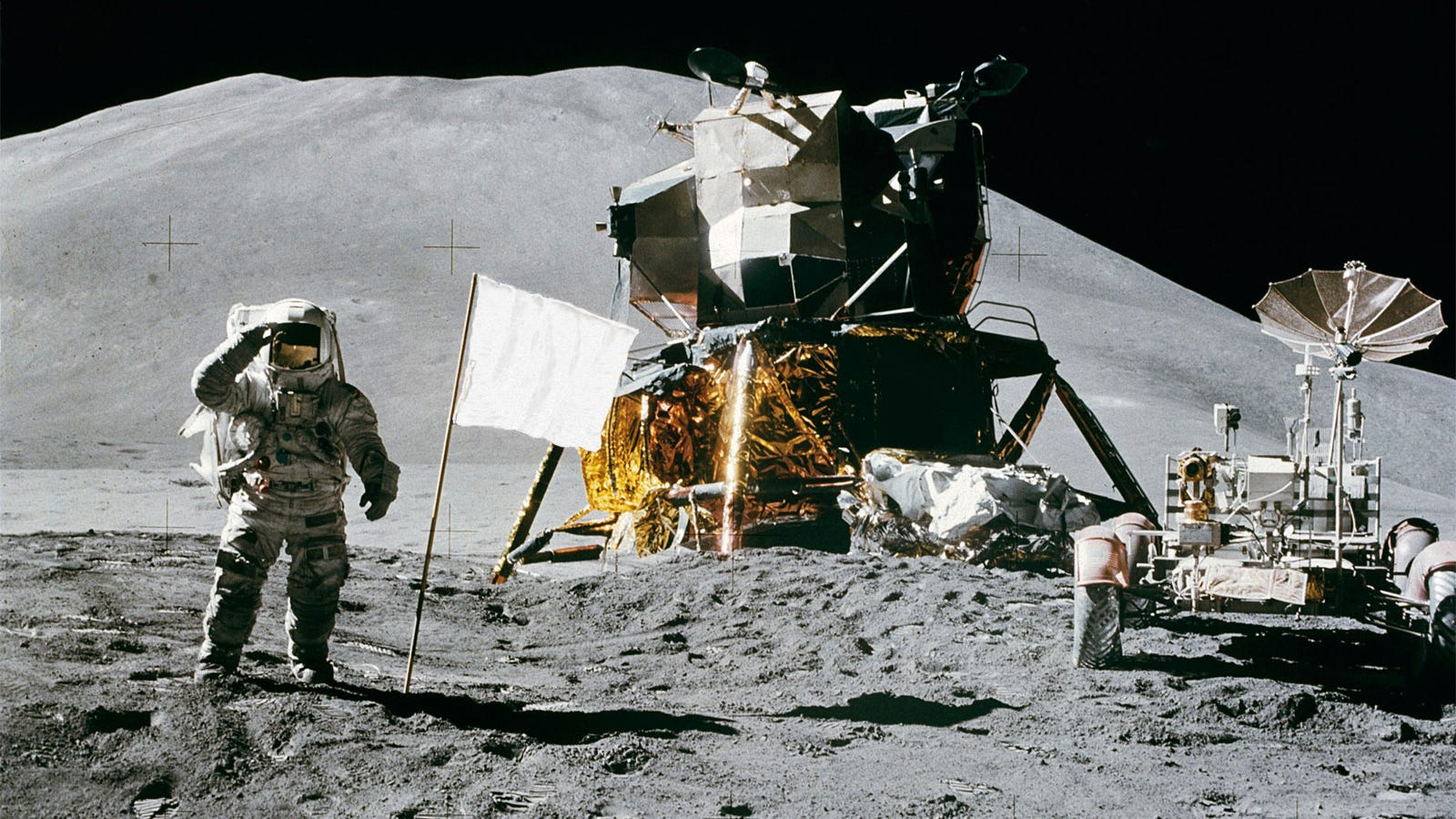 Image result for neil armstrong on the moon with flag