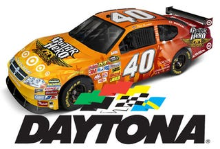 Illustration for article titled Guitar Hero Car Repeatedly Turning Left At Daytona 500