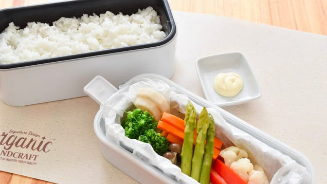 Double-Decker Bento Box Rice Cooker Promises Hot and Fresh Work Lunches That Rival Take Out