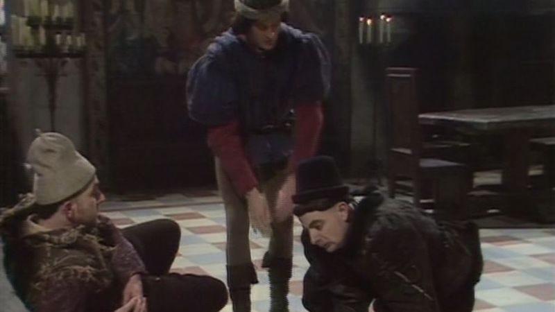 Tony Robinson, Tim McInnerny, Rowan Atkinson