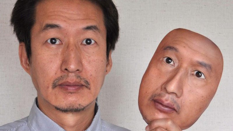"""Illustration for article titled Japanese company """"REAL-f"""" makes really f-ing accurate 3-D copies of your face"""