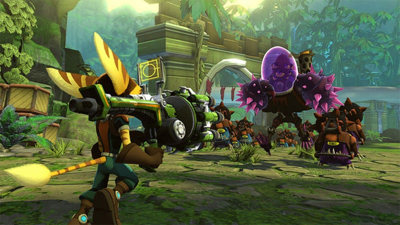 Illustration for article titled The Next Ratchet & Clank Adds Co-Op Multiplayer and Tower Defense