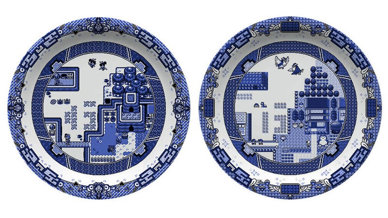 Illustration for article titled Video Game Plates So Gorgeous You'll Pause Before Dropping Your Filthy Food On Them