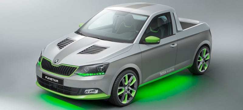 Illustration for article titled Skoda's FUNstar Perfectly Touches On All Of Our Weird Fetishes