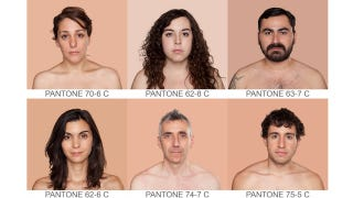 Illustration for article titled Human skin tones classified as Pantone colors