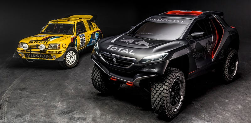 Illustration for article titled Peugeot's Mean-Ass Rally Buggy Is Here To Win Dakar And Scare Children
