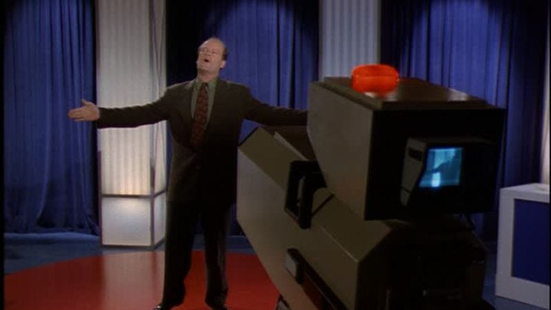 Illustration for article titled Frasier forgets the words in one of the funniest sitcom episodes of the 1990s