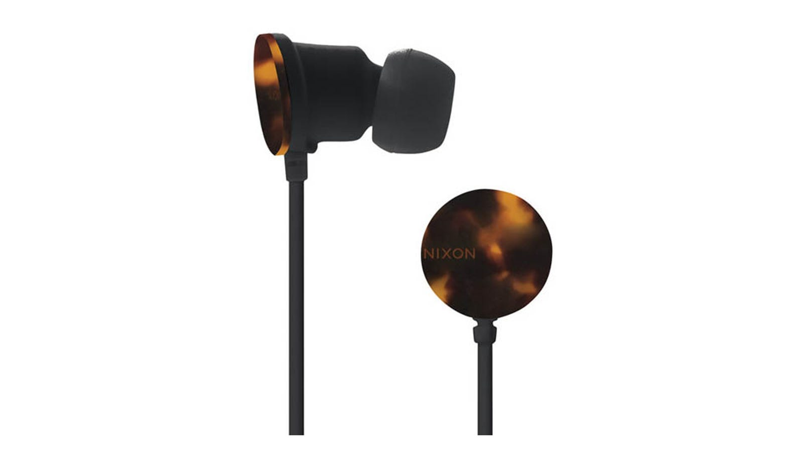 tangle free earbuds - Nixon Offers Up Tortoise Shell Earbuds to Match Your Tortoise Shell Sunglasses