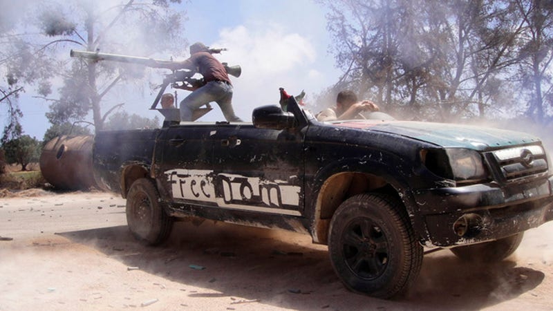 Illustration for article titled Even chopped pickup trucks may not help Libya's rebels win